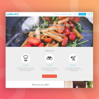 withlocals become a host webdesign