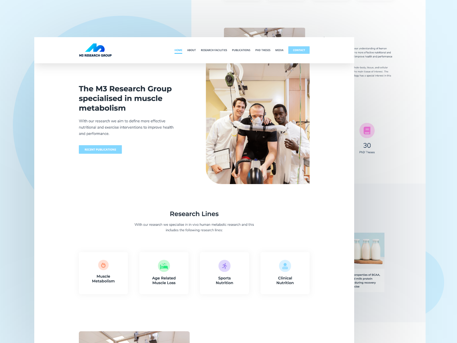 M3 Research Group Webdesign